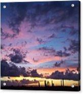 Cacti Sunset Acrylic Print