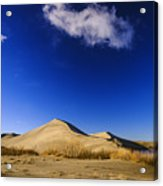 Lonely Cloud Over Sand Dunes At Bruneau Dunes State Park Idaho Usa Acrylic Print