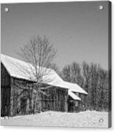 Lonely Grey Barn Acrylic Print
