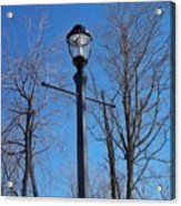 Lonely Lamp Post Acrylic Print by Deborah MacQuarrie-Haig