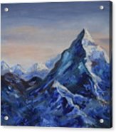 Lonely Mountain Cliff Acrylic Print