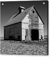 Lonely Old Barn Vertical Acrylic Print