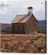 Lonely Schoolhouse Acrylic Print