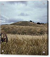 Lonely Tractor Panorama Acrylic Print