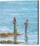 Lonesome Angler Acrylic Print