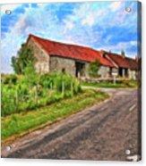 Long Barns Near Avincey - P4a16016 Acrylic Print