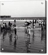 Long Beach California Bathers C. 1910 Acrylic Print