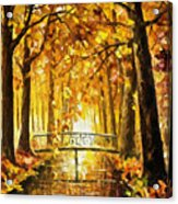 Long Before Winter - Palette Knife Oil Painting On Canvas By Leonid Afremov Acrylic Print