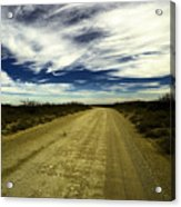 Long Dusty Road In Jal New Mexico  Acrylic Print