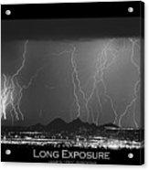 Long Exposure - Bw Poster Acrylic Print