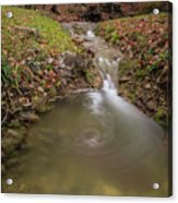 Long Exposure Picture Of Waterfall Acrylic Print