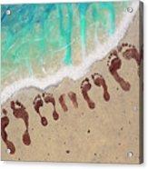 Long Family Beach Feet Acrylic Print