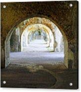 Long Hall At Fort Pickens Acrylic Print