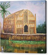 Long Hut Of The Marsh Arabs Acrylic Print by Ron Bowles