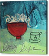 Long Life Noodles Acrylic Print