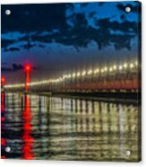 Long Lights At Grand Haven Pier Acrylic Print