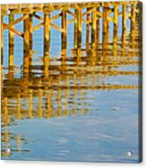 Long Wooden Pier Reflections Acrylic Print
