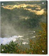 Long Pond Tully River Fog Acrylic Print