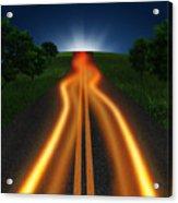 Long Road In Twilight Acrylic Print
