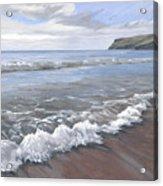 Long Waves At Trebarwith Acrylic Print