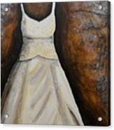 Long White Gown  Acrylic Print