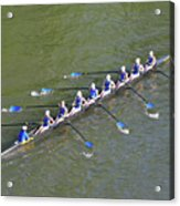 Longboat - Rowing On The Schuylkill River Acrylic Print