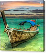 Longboat Sunset Acrylic Print
