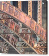 Longfellow Bridge Arches IIi Acrylic Print