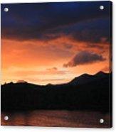 Longfellow Mountains Sunset Acrylic Print