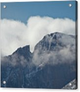 Longs Peak And Notch Acrylic Print by Brent Parks