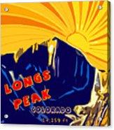 Longs Peak Acrylic Print