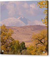 Longs Peak Diamond Autumn Shadow Acrylic Print
