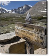 Longs Peak Seen From Chasm Lake Trail Acrylic Print
