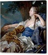 Loo, Louis-michel Van Tolon, 1707 - Paris, 1771 Diana In A Landscape 1739 Acrylic Print