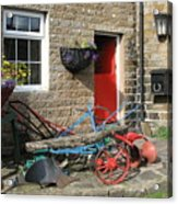 Looking At A Old Stone House Acrylic Print by Joyce Woodhouse