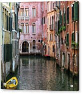 Looking Down A Venice Canal Acrylic Print