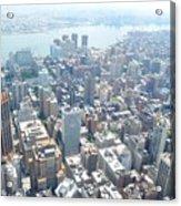 Looking Down At New York 2015  Acrylic Print