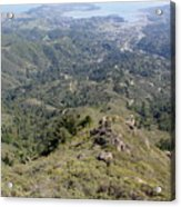 Looking Down From The Top Of Mount Tamalpais Acrylic Print