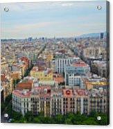 Looking Down On Barcelona From The Sagrada Familia Acrylic Print