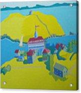 Looking Down On Monhegan And Manana Islands Acrylic Print