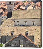 Looking Down On Old Dubrovnik Acrylic Print