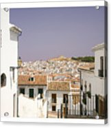 Looking Down Over Antequera  From Near The Church Of Santa Maria La Mayor  Acrylic Print