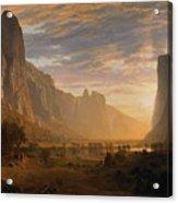 Looking Down Yosemite Acrylic Print