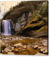 Looking Glass Falls Pisgah National Forest 2 Acrylic Print