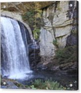 Looking Glass Falls Side View Acrylic Print