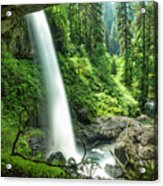 Looking Out From Under North Falls Acrylic Print