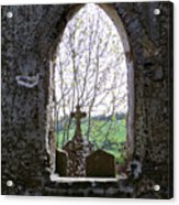 Looking Out Fuerty Church Roscommon Ireland Acrylic Print