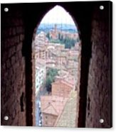 Looking Out The Window On Siena Acrylic Print