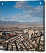 Looking Over Downtown Acrylic Print by Andy Smy