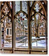 Looking Through An Arched Window At Princeton University At The Courtyard Acrylic Print